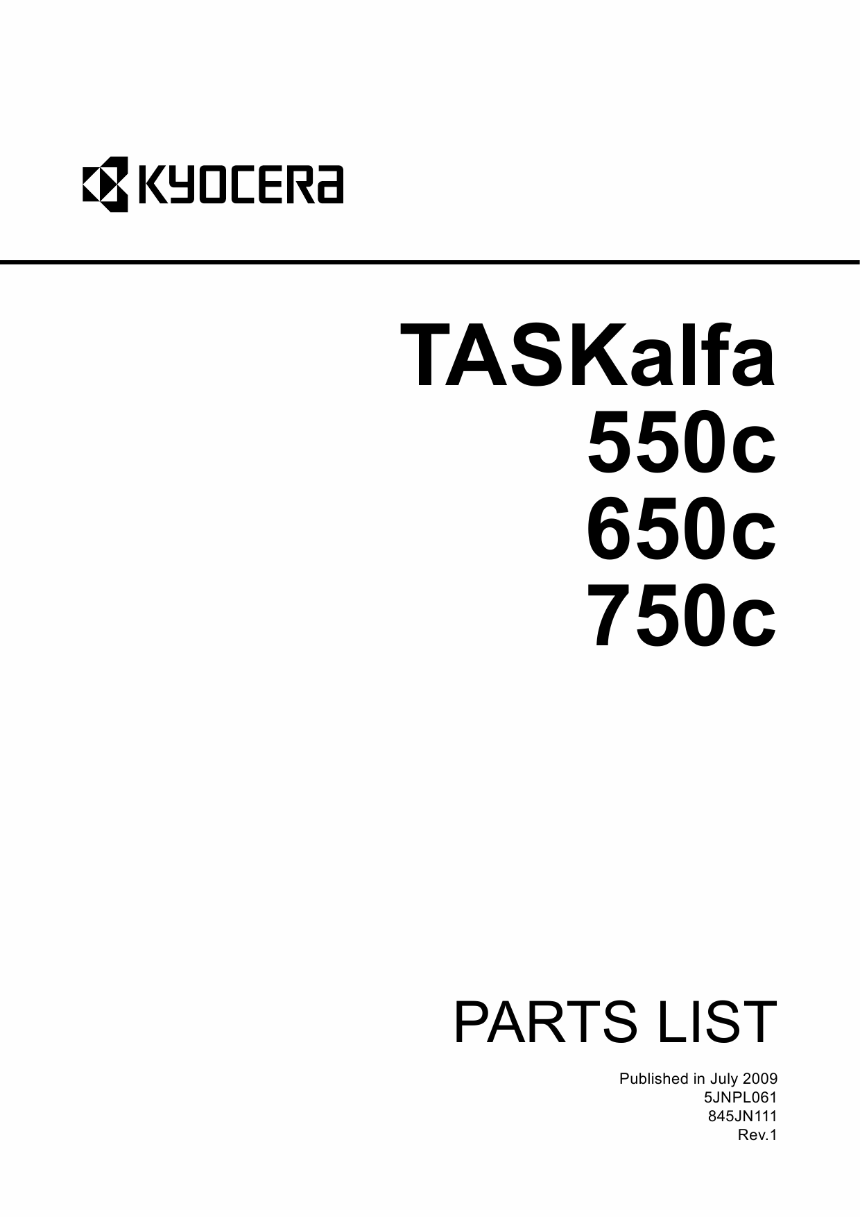 KYOCERA ColorMFP TASKalfa-550c 650c 750c Parts Manual-1
